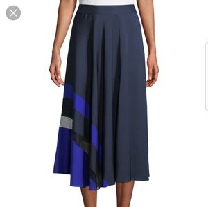 Host Pick! NWT Milly Navy Blue Pleated Combo Skirt